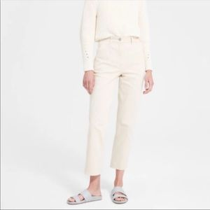 Everlane straight leg crop pants stone short